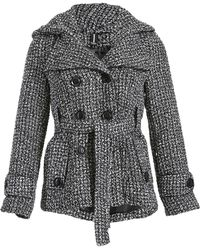 Izabel London - Double Breasted Boucle Jacket - Lyst