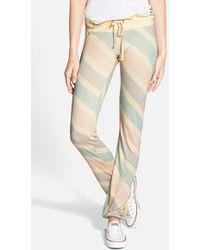 Wildfox Stripe Drawstring Pants - Lyst