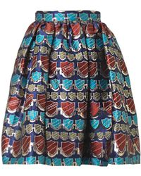 House Of Holland Crestjacquard Dirndl Skirt - Lyst