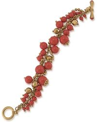 Carolee - Coral Croquet Shaky Bead Bracelet - Lyst