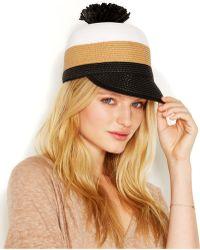 BCBGMAXAZRIA - Striped Pom Pom Hat - Lyst