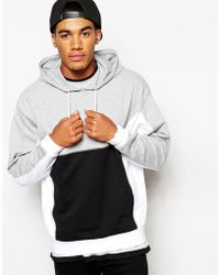 Asos Oversized Hoodie with Color Block Panels - Lyst