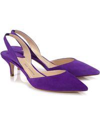 Paul Andrew Iris Leather Rhea Slingback Heels - Lyst