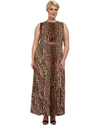 Michael by Michael Kors Plus Size Mix Print Studded Maxi Dress - Lyst