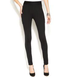 Inc International Concepts Petite Ponte Side-stripe Skinny Pants - Lyst