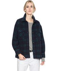 Etoile Isabel Marant Plaid Wool Flannel Jacket - Lyst