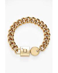 Marc By Marc Jacobs 'Lock-In' Link Bracelet - Oro - Lyst