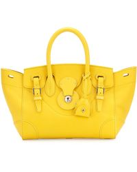 Ralph Lauren - Ricky 27 Small Soft Satchel Bag Yellow - Lyst