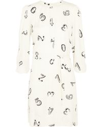 See By Chloé Printed Crepe Mini Dress - Lyst