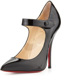 Christian Louboutin Neo Pensee Mary Jane Red Sole Pump - Lyst