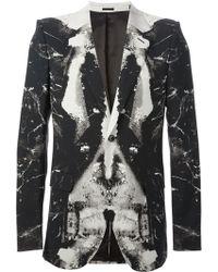 Alexander McQueen Graphic Print Blazer - Lyst