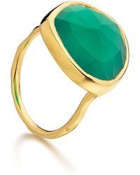 Monica Vinader Siren Ring Green Onyx - Lyst