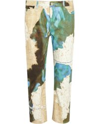 Acne Studios Pop Printed Low-Rise Straight-Leg Jeans - Lyst