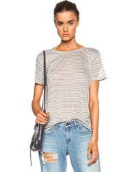 Enza Costa Scoop Back Linen-Blend Top - Lyst