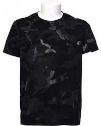 Valentino | T-shirt Camouflage Noir | Lyst
