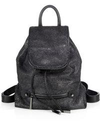 Halston Heritage Black Fauxstingray Backpack - Lyst