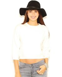 Olivaceous - Zipper Back Sweater In Ivory - Lyst
