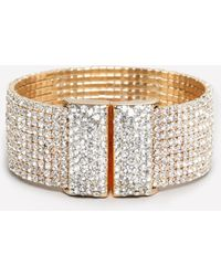 Bebe - Allover Crystal Cuff - Lyst