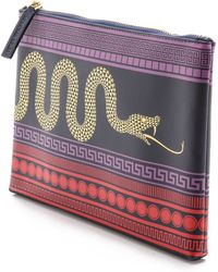 Jonathan Adler Animal Duchess Medium Pouch Navy - Lyst