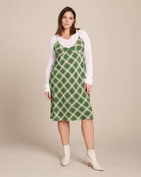 Marc Jacobs - Bias Plaid Knee Length Dress - Lyst