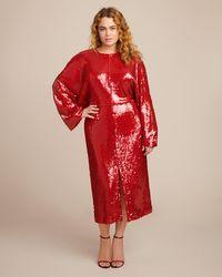 Sally Lapointe - Stretch Sequins Dolman Dress - Lyst