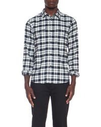 A.P.C. Army Cotton Shirt - Lyst