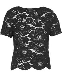 Topshop Scallop Lace Tee - Lyst