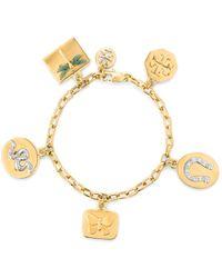 Tory Burch - Sylbie Multicharm Bracelet - Lyst