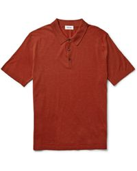 Faconnable Wool Polo Shirt - Lyst