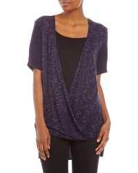Philosophy Open Twist Front Blouse - Lyst