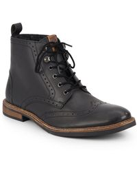 Ben Sherman | Brent Leather Wingtip Brogue Boots | Lyst
