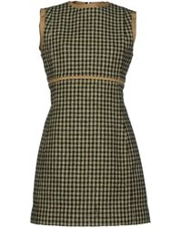 Celine Green Short Dress - Lyst