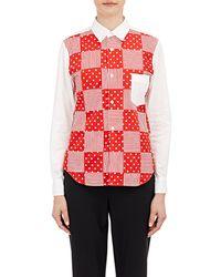 Comme des Garçons Patchwork-Front Shirt red - Lyst