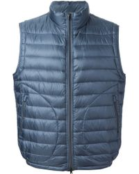 Herno Blue Padded Gilet - Lyst
