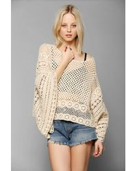 Pins And Needles - Crochet Poncho Sweater - Lyst