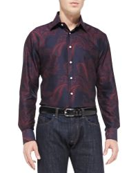 Etro Cotton Paisleyprint Shirt - Lyst
