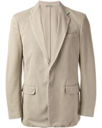Canali Two Button Blazer - Lyst