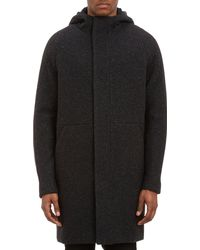 Alexander Wang Speckled Wool Hooded Parka - Lyst