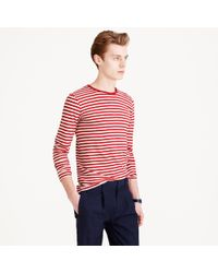 J.Crew Armor-Lux® Long-Sleeve Striped Tee red - Lyst