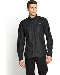Diesel Mens New Sonora Denim Long Sleeve Western Shirt - Lyst