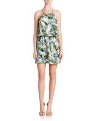 Parker Fleur Silk Print Dress - Lyst