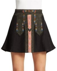 Free People Tribal Cheer Skater Skirt - Lyst