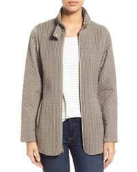 Jones New York - Quilted Zipped Jacket - Lyst