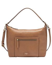 Fossil 'Vickery' Leather Shoulder Bag - Lyst