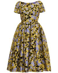 Mary Katrantzou Silera Carmen Jacquard Dress multicolor - Lyst