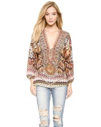 Camilla Lace Up Blouse  Chameleon - Lyst