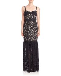 Milly | Dahlia Floral Lace Bustier Gown | Lyst
