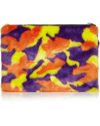 House of Holland - Hand Cuff Faux Fur Clutch - Lyst