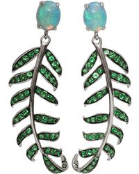 Katherine Jetter - Blue Opal Fern Earrings - Lyst