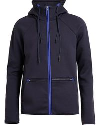 T By Alexander Wang Contrast Piping Hooded Sweatshirt - Lyst